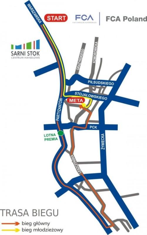 Mapa 23. Biegu Fiata